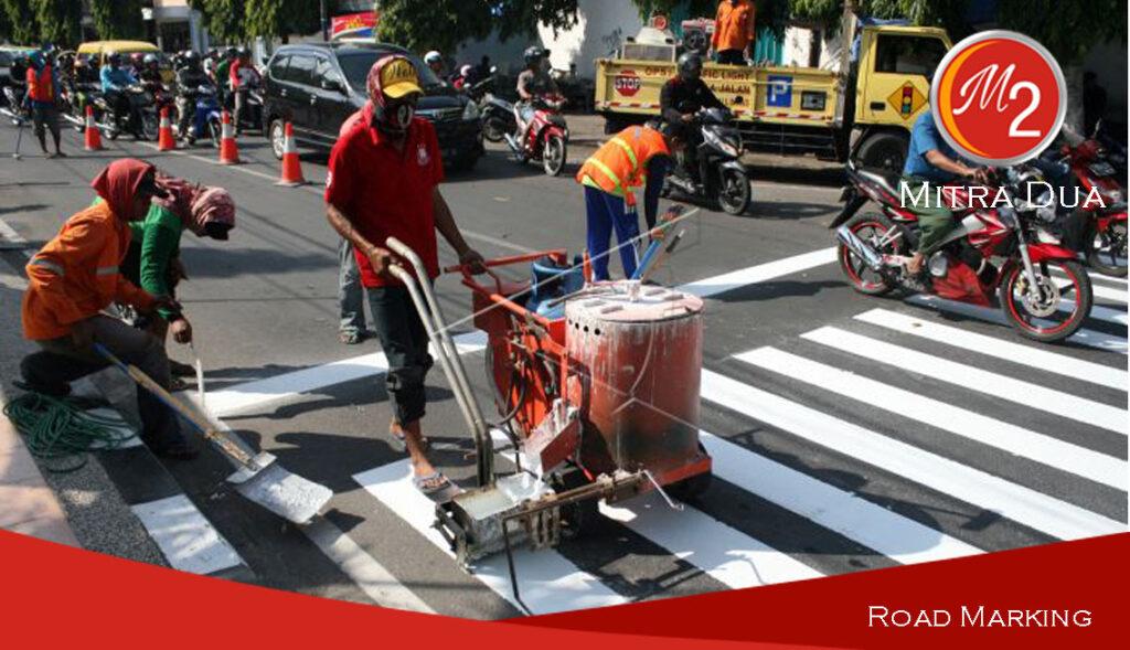 Jasa Pengecatan Marka Jalan Thermoplastic | Mitra Dua